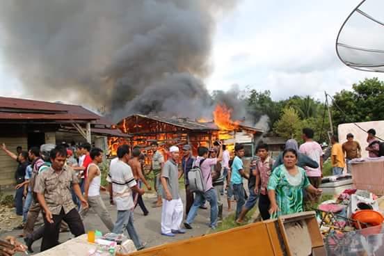 Damkar Telat Datang, 18 Rumah di Subulussalam Hangus Terbakar