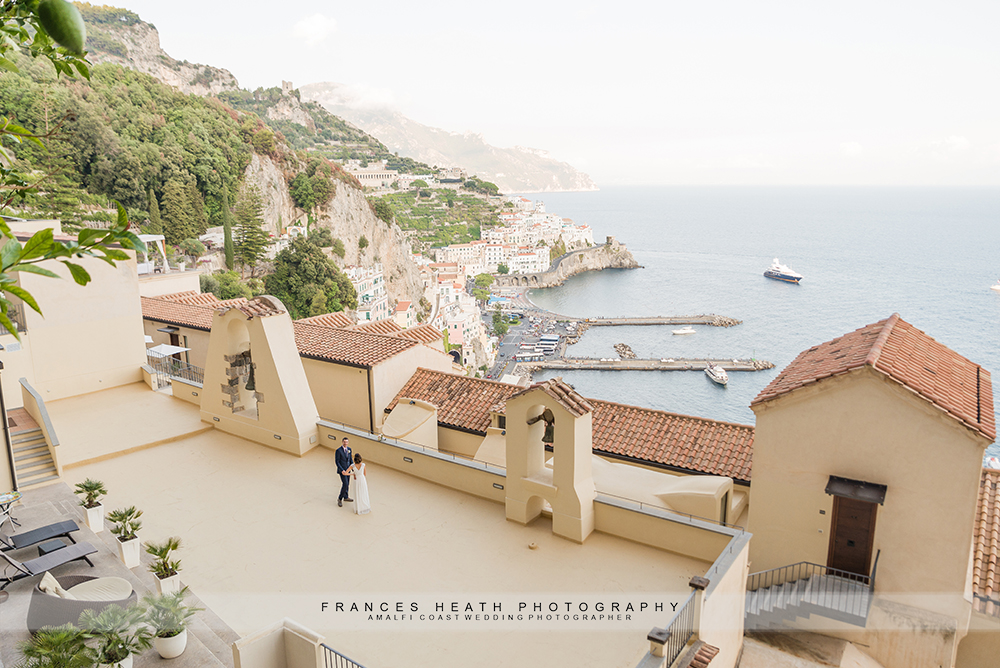 Amalfi scenic wedding on the bell tower terrace