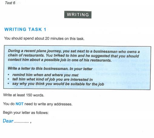 Latihan IELTS | Cambridge IELT 12 | Test 6 | Section 1 | Writing
