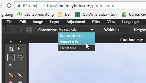 Hướng dẫn cắt ảnh hình tròn bằng Photoshop online