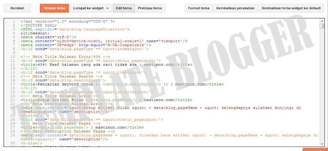 Cara Upload atau ganti Template Blogger menggunakan file XML dan TEXT
