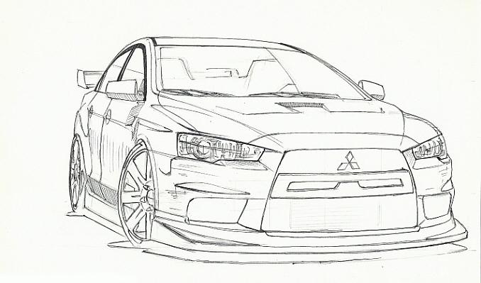 evo drawing