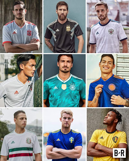 83dbb50e1 Adidas 2018 World Cup Away Kits Released - Footy Headlines