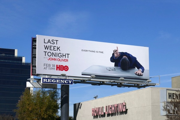 John Oliver HBO season 5 billboard