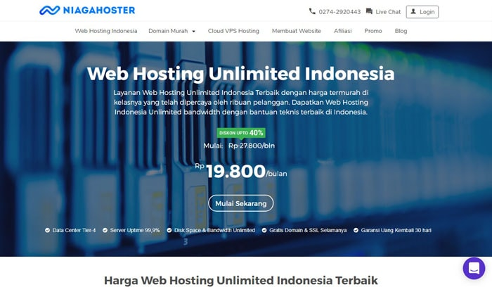 web hosting unlimited indonesia