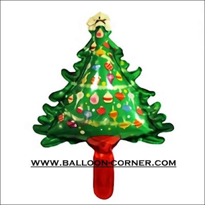 Balon Foil Pohon Natal Mini