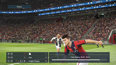 PES 2019 Stadium Serie A Boards by Buzzy