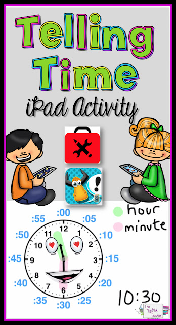Telling Time iPad Activity idea using FREE apps