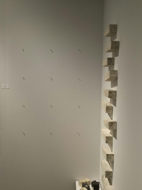 Lori Katz's empty wall (lots of sales) at SOFA Chicago 2016