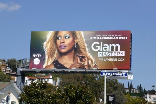 Laverne Cox Glam Masters series premiere billboard