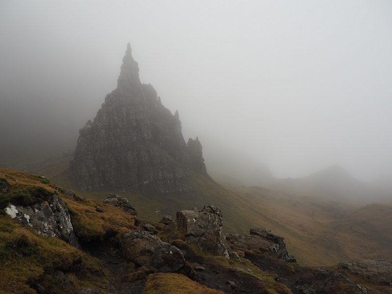Old Man of Storr in the fog