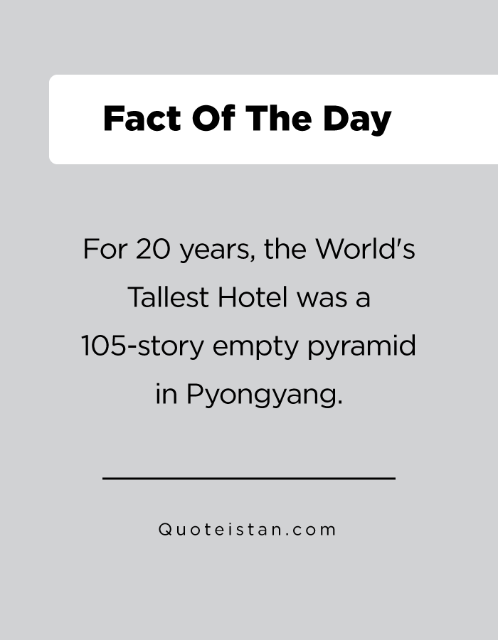 For 20 years, the World's Tallest Hotel was a 105-story empty pyramid in Pyongyang.