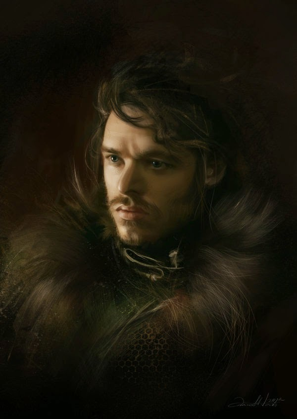 07-Robb-Stark-Ania Mitura-GoT-Game-of-Thrones-Digital-Paintings-www-designstack-co