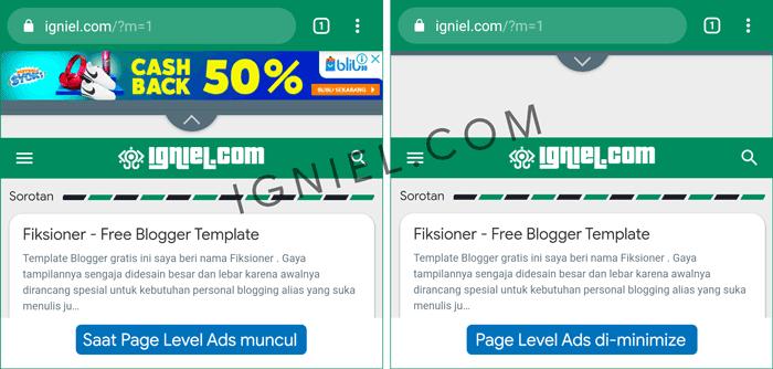 Mencegah Header Navigasi Bergeser ke Bawah Akibat Page Level Ads