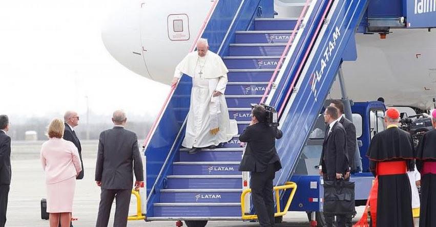 PAPA FRANCISCO EN PERÚ: Sumo Pontífice llegó a Perú para iniciar esperada visita pastoral - www.papafranciscoenperu.pe
