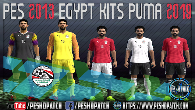 6aaa3bb30 PES 2013 Egypt Full Kits Puma 2019 By PES - HD PATCH - PES - HD PATCH