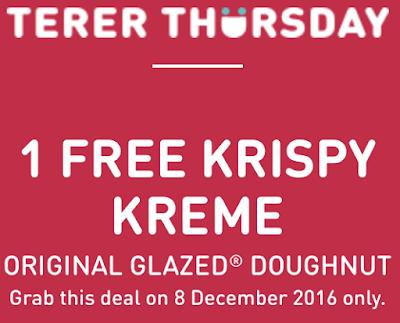 U Mobile Freebies Krispy Kreme Original Glazed Doughnut Free