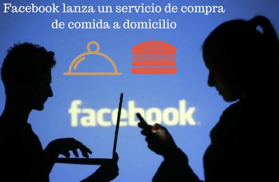 Facebook, redes sociales, comida, socia media, domicilio, servicio, compra