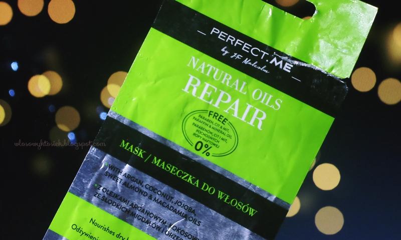 Recenzja #8 - maseczka z Biedronki, Perfect Me ~ Natural Oils Repair (zielona)