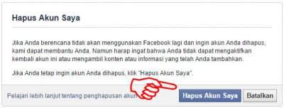 cara menghapus akun facebook sendiri