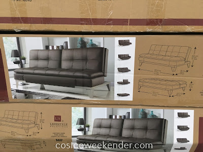 Costco 1074710 - Lifestyle Solutions Euro Lounger: use as a couch, futon, bed, etc.