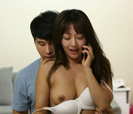 Korean Girlfriend Gets Fucked While Talking On Phone