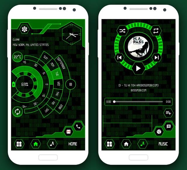لانشر أندرويد سيحول شكل هاتفك إلى شكل خيالي وكأنه جهاز هكر