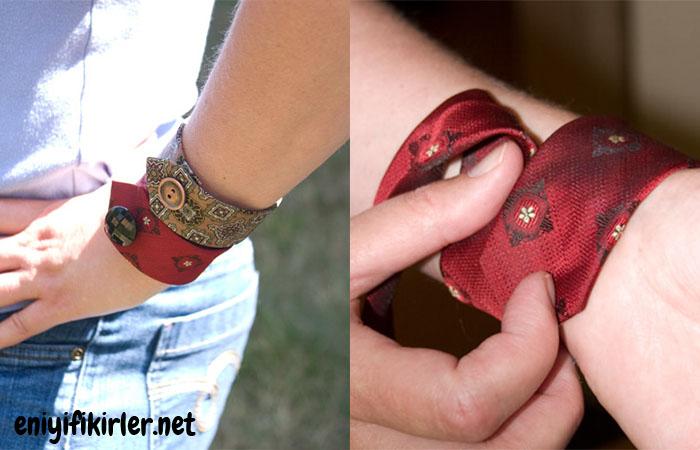 kravat  kumaştan bileklik yapımı
