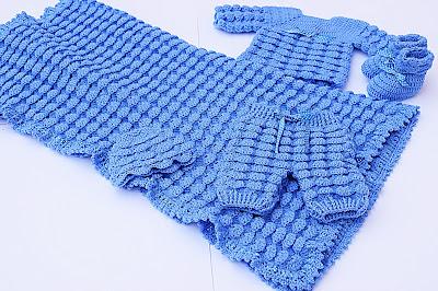 2 - Crochet, imagen linda sencilla cobija a relieve. Majovel Crochet