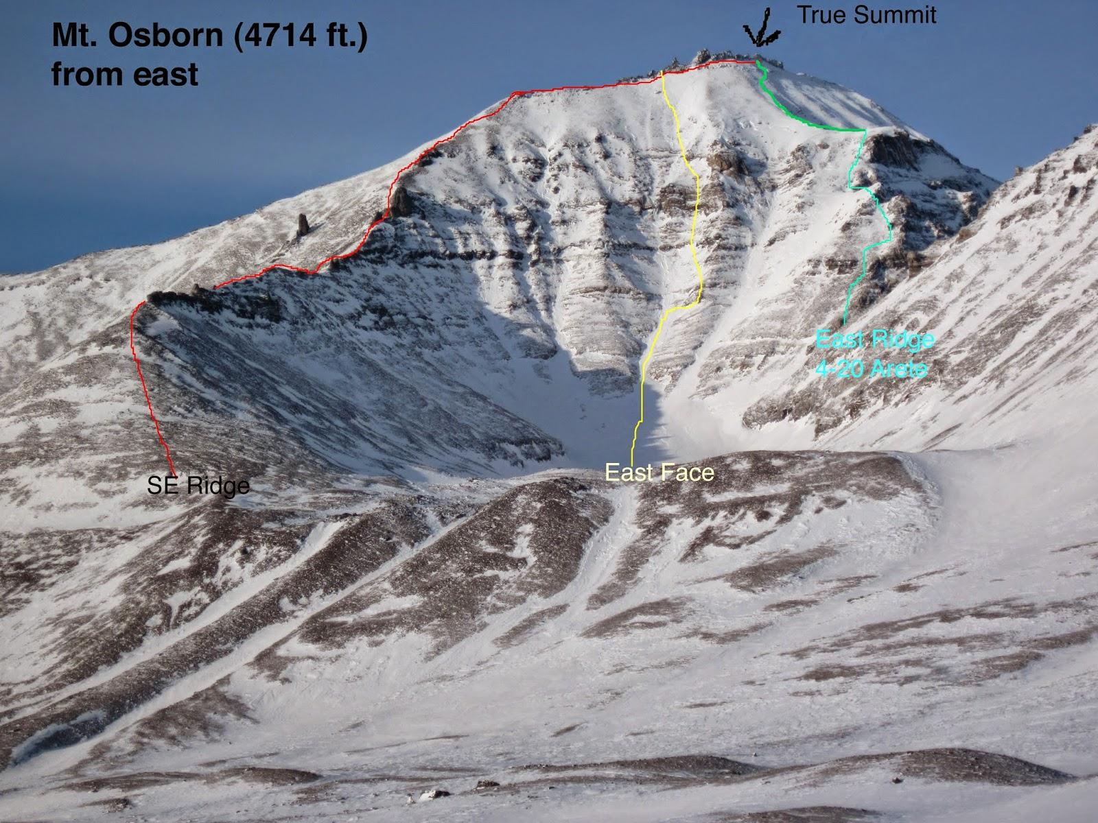climb Mt. Osborn