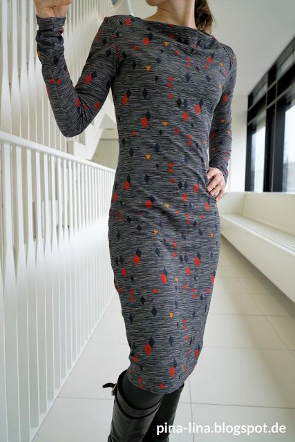 Stoffsparwunder - Front des Jerseykleids