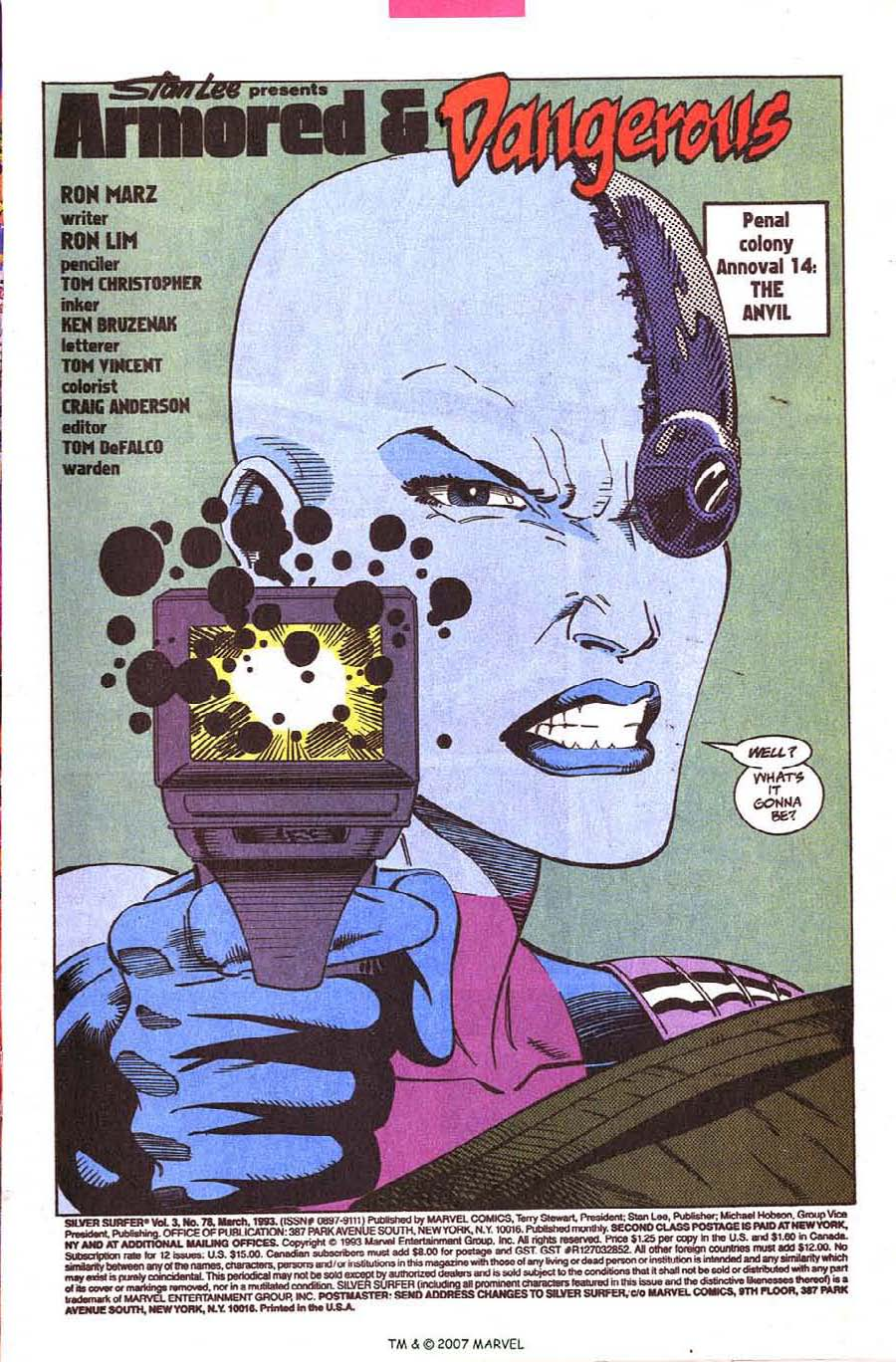 Read online Silver Surfer (1987) comic -  Issue #78 - 3