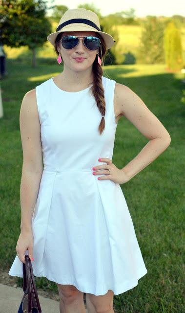 white dress with a fedora | fourth of july outfit ideas | how to style your white dress | summer outfit ideas | a memory of us |