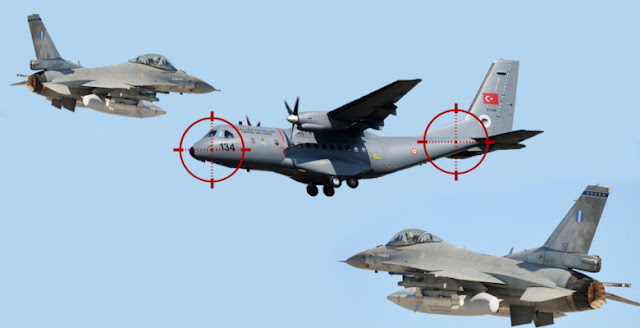 Τουρκικό Κατασκοπευτικό CN-235 επιχείρησε να καταγράψει την «Απόβαση» των Πεζοναυτών μας… Εγκλωβίστηκε απο F-16