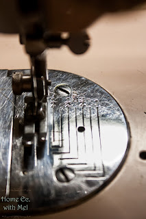 seams marked on needle plate
