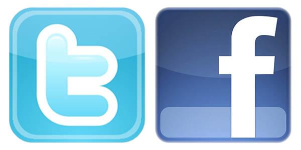 logo twitter dan facebook