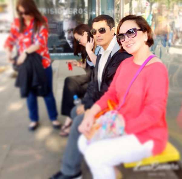 Actress Liezl Martinez with Albert Martinez in Barcelona