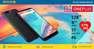 OnePlus 5T Dual Sim - 128GB, 8GB RAM, 4G LTE,Black