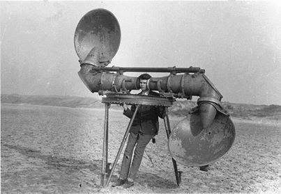 الطريقة المستخدمة من الجيش الهولندي لسماع طائرات العدو