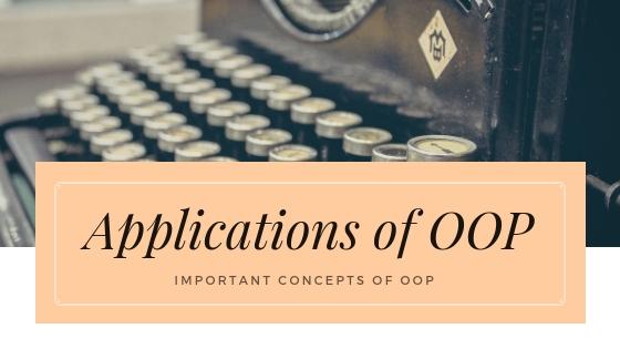applications of oop
