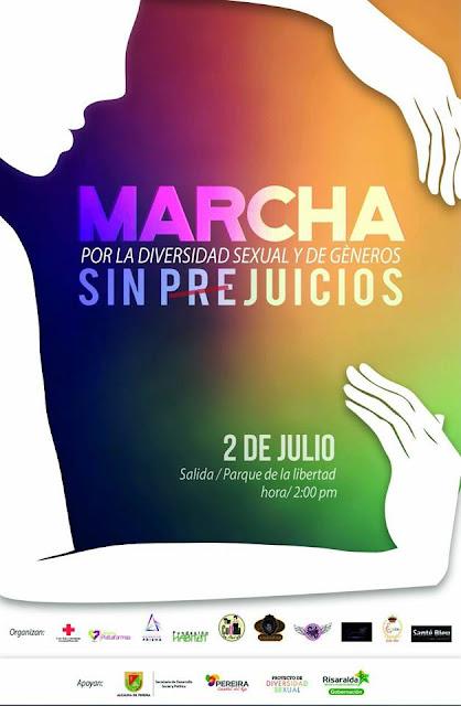 marcha gay orgullo lgbt 2017 lesbianas sexo travesti colombia manizales