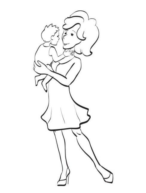 Mirzan Blog S 20 Ide Gambar Ibu Anak Kartun Hitam Putih