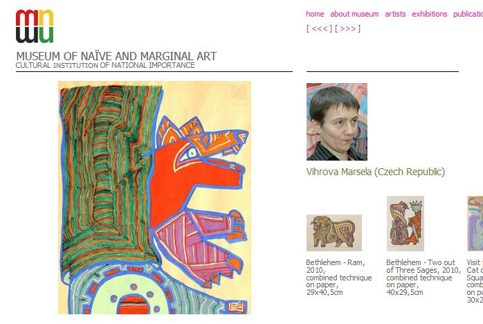 Marcela Vichrová v MUSEUM OF NAÏVE AND MARGINAL ART, Jagodina, Srbsko