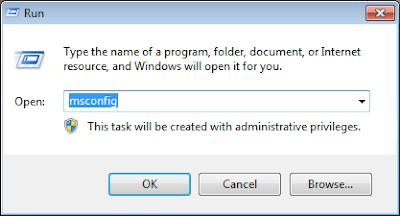Cara Mempercepat Booting Windows Dengan Msconfig