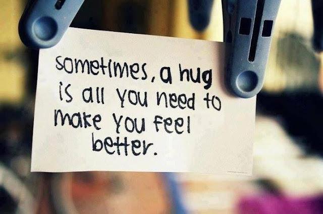 Hug People Feel Better in Life