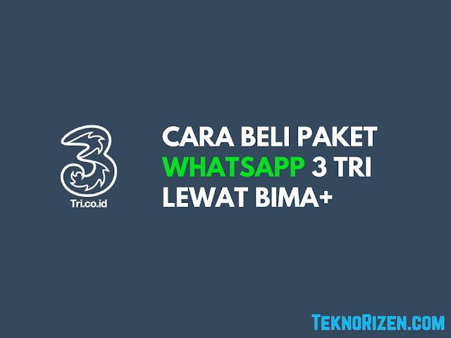 Provider internet di Indonesia terdapat beragam paket internet yang disesuaikan dengan ke Tutorial Beli Paket WhatsApp 3 Tri Terbaru 2019