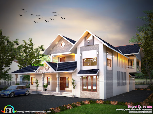 Awesome Modern House With Floorplan - Kerala Home Design
