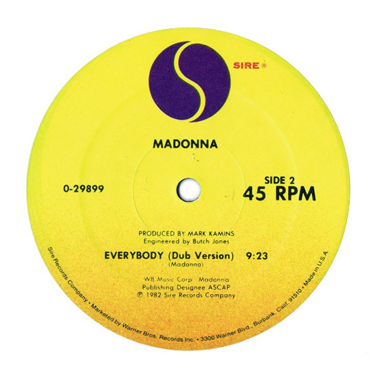 Madonna, Everybody 1982 side B