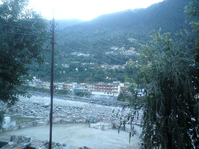 View from my hotel room balcony - Uttarkashi