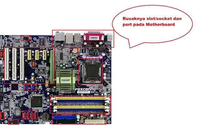 Motherboard tidak berfungsi